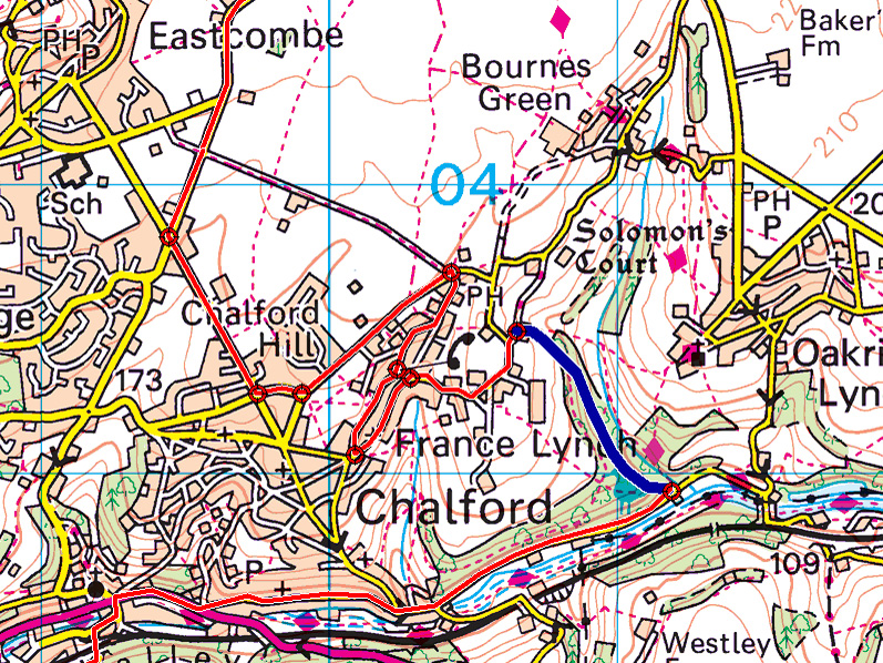 1938 Abingdon route through Ashmeads